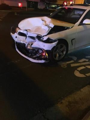 Hoa hậu Hoàng Hải My bị tai nạn xe hơi ở Mỹ