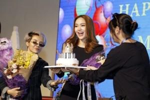 Minh Hằng bất ngờ được mừng sinh nhật khi đi dự sự kiện
