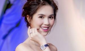 Ngọc Trinh đeo đồng hồ nạm kim cương dự event ở Hà Nội
