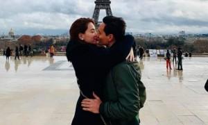 Kim Lý hôn Hồ Ngọc Hà giữa Paris