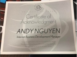 Andy Nguyen, Internet Sales Manager